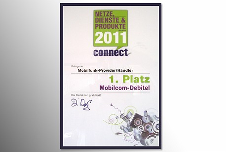 mobilcom-debitel voted 'Mobile Phone Provider/Dealer of the Year' again