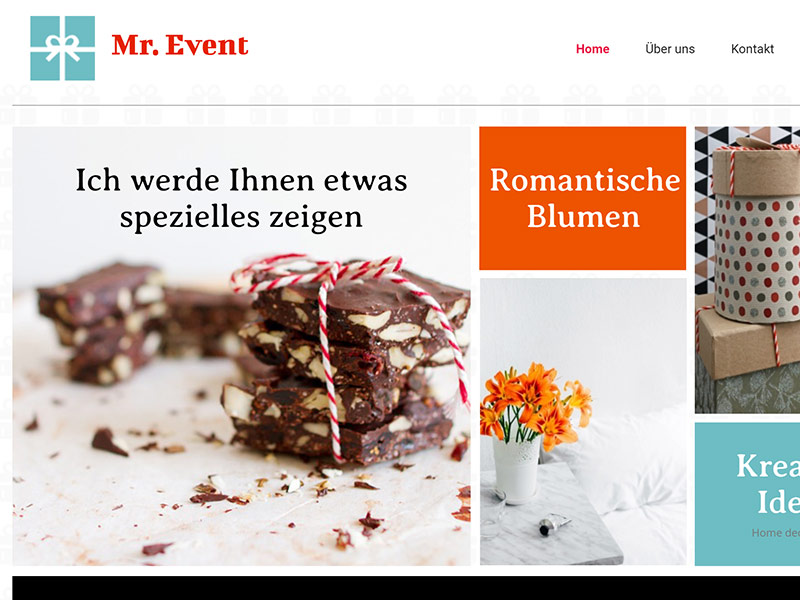 Mr Event webhosting desktop