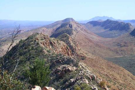 Die MacDonnell Ranges im Northern Territory  © Public Domain