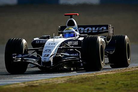 rosberg williams fw27 test