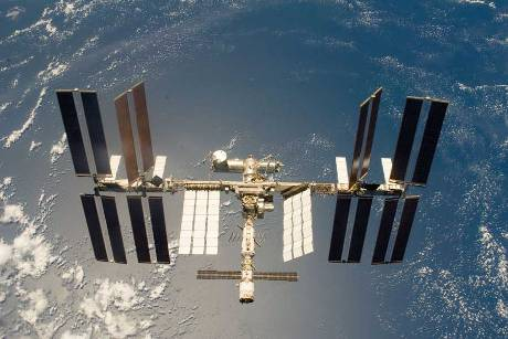 Archiv: Die Internationale Raumstation ISS im Erdorbit.  © NASA
