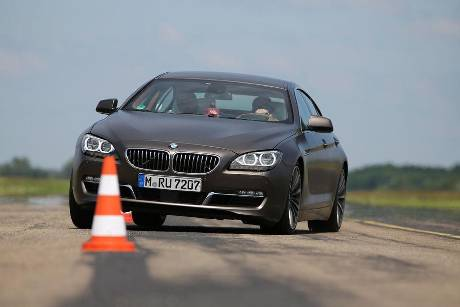 BMW 640d Gran Coup, Frontansicht, Slalom