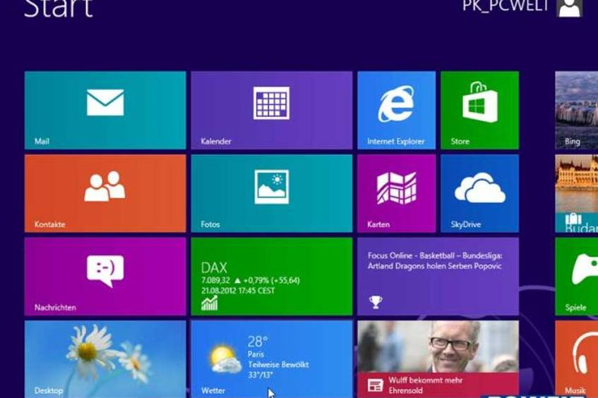 Windows 8 Pro (RTM) deutsch ausprobiert