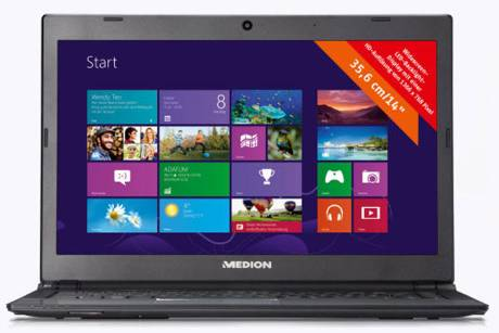 Aldi: Günstiges Ultrabook mit Windows 8 ab 22.11.