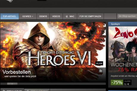 Steam startet Big Picture Modus  (c) steampowered.com