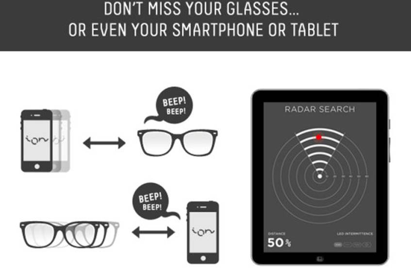 Ion Glasses machen Google Glass Konkurrenz (c) indiegogo.com