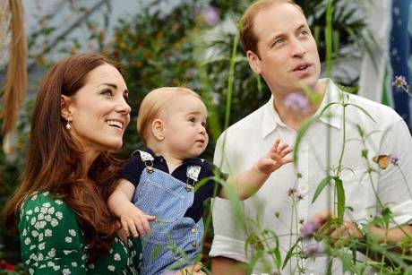 Prinz George, Kate, William