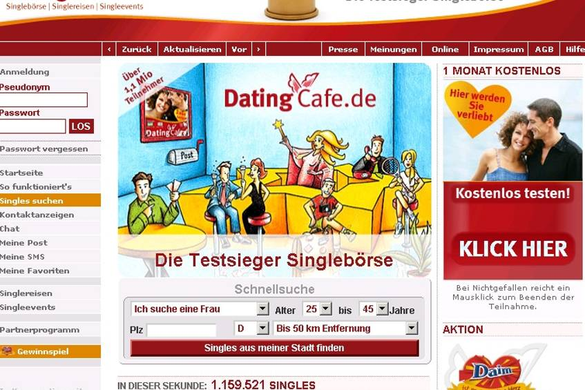 Dating cafe kosten frauen