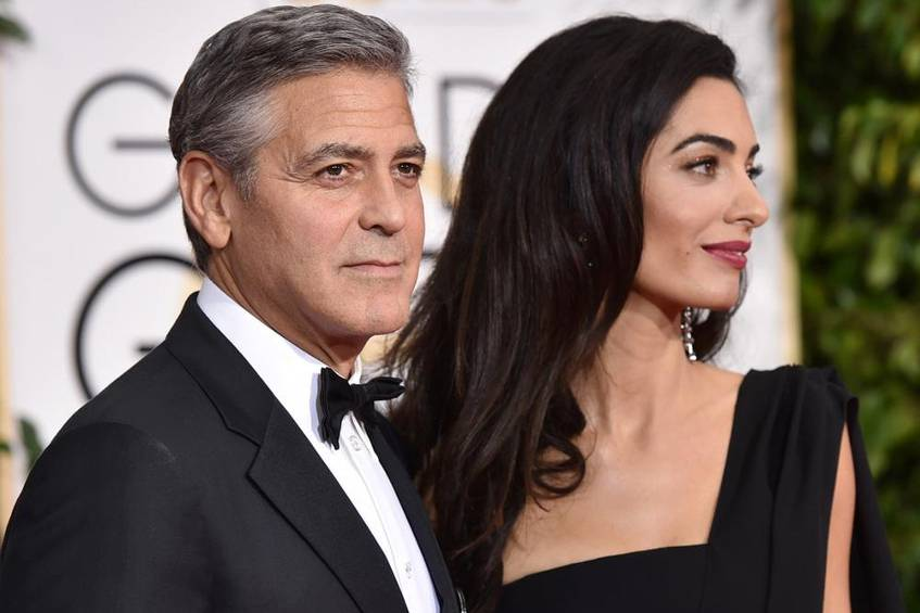 kriselt es bei george clooney und amal alamuddin promis. Black Bedroom Furniture Sets. Home Design Ideas