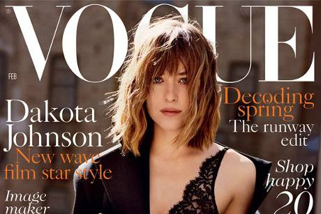 "Dakota Johnson auf dem Cover der ""Vogue"""