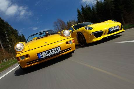Techart-Porsche 964 Speedster, Techart-Porsche 991 Carrera S, Frontansicht
