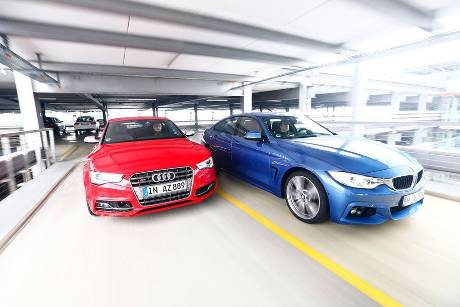 Audi S5 Sportback, BMW 435i Gran Coup, Frontansicht