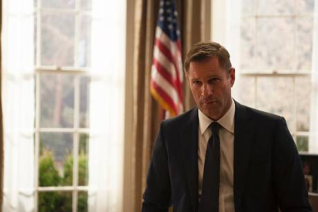 "Aaron Eckhart als US-Präsident Benjamin Asher in ""London Has Fallen"""