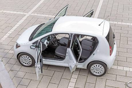 VW Up 1.0 White, Tren offen