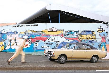 Opel Commodore A Coup, Le Mans, Reise, Impression