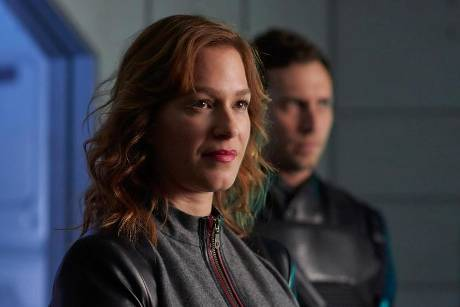 "Franka Potente als Chief Inspector Shaddick in der US-Serie ""Dark Matter"""