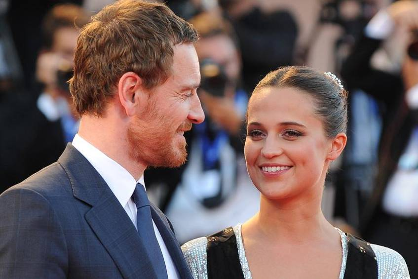 "Michael Fassbender und Alicia Vikander bei der Weltpremiere von ""The Light Between Oceans"" in Venedig"