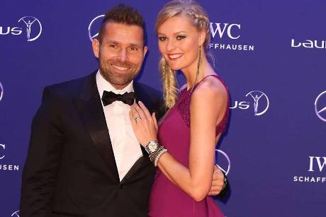 Hannes Arch und Miriam Höller bei den Laureus World Sports Awards im April 2016 in Berlin