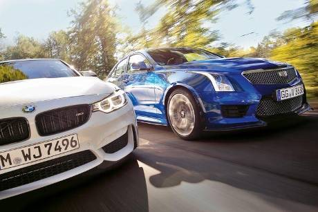 BMW M3 Competition, Cadillac ATS-V, Frontansicht