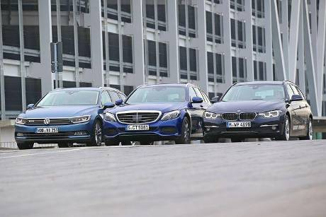 BMW 320d Touring xDrive, Mercedes C 250 d T 4Matic, VW Passat Variant 2.0 TDI 4Motion