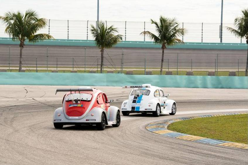 Sonne in Miami: Der VW Beetle Fun Cup debütiert in den USA.