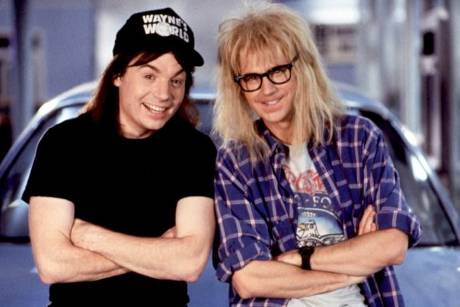 "Wayne Campbell (Mike Myers, l.) und Garth Algar (Dana Carvey) aus der Kultreihe ""Wayne's World"""