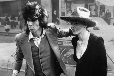 Anita Pallenberg und Keith Richards 1973 in London