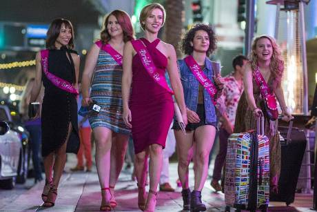 "Zoë Kravitz (v.l.), Jillian Bell, Scarlett Johansson, Ilana Glazer und Kate McKinnon in ""Girls' Night Out"""