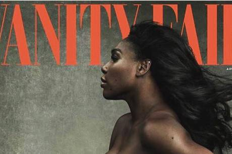 Sexy Babykugel: Serena Williams nackt auf Vanity-Fair-Cover