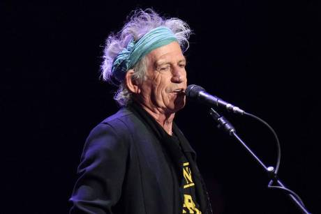 Keith Richards bei einem Auftritt in New York