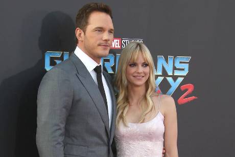 "Anna Faris und Chris Pratt im April 2017 bei der Premiere von ""Guardians Of The Galaxy Vol. 2"" in Los Angeles"