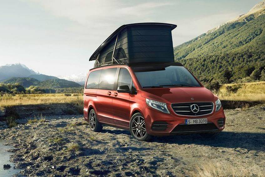 Mercedes V-Klasse Marco Polo Horizon Limited Edition hyazinthrot