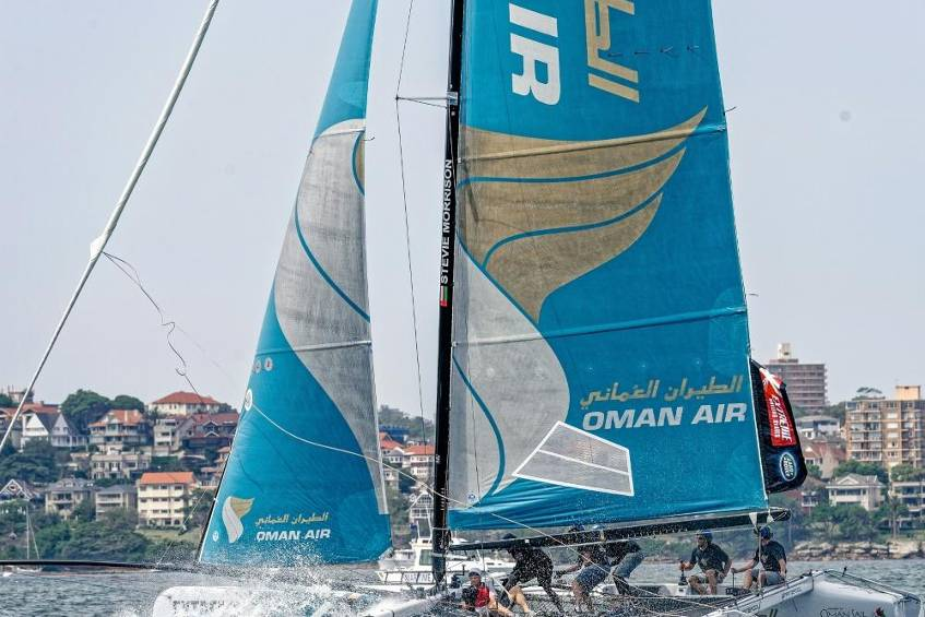 Oman Air gewinnt Extreme Sailing Series in Hamburg © SID