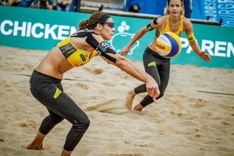 Beachvolleyball-DM: Ludwig/Walkenhorst scheitern - Laboureur/Sude holen Titel