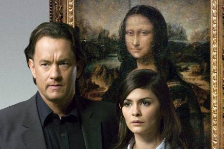 """The Da Vinci Code - Sakrileg"": Der Symbologe Robert Langdon (Tom Hanks) und die Kryptologin Sophie Neveu (Audrey Tautou) ve..."