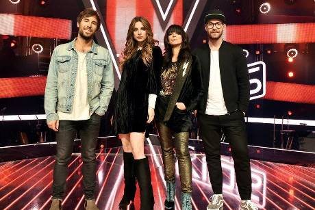 "Die Coaches von ""The Voice Kids"": Max Giesinger, Larissa, Nena, Mark Forster"