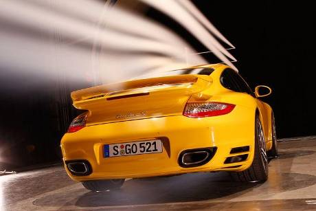 Porsche 911 Turbo S, Heck, Windkanal