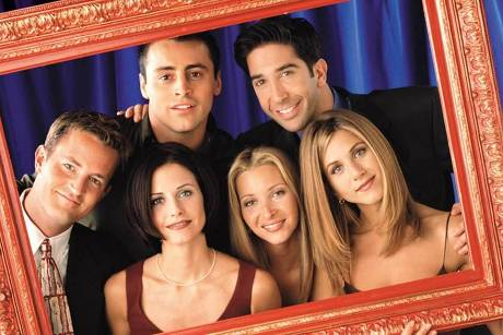 "Die ""Friends"" (v.l.n.r.): Matthew Perry, Matt LeBlanc, David Schwimmer sowie Courteney Cox, Lisa Kudrow und Jennifer Aniston"