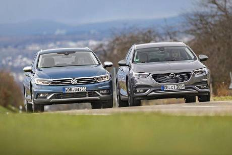 Opel Insignia Country Tourer 2.0 DI Turbo 4x4, VW Passat Alltrack 2.0 TSI 4Motion, Exterieur