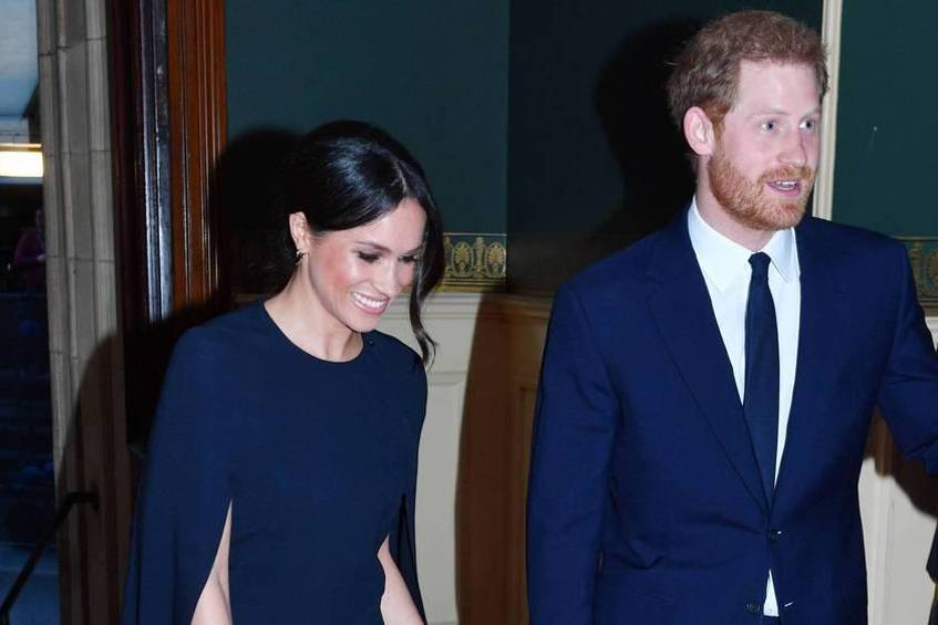 Meghan Markle und Prinz Harry am Samstagabend in der Royal Albert Hall in London