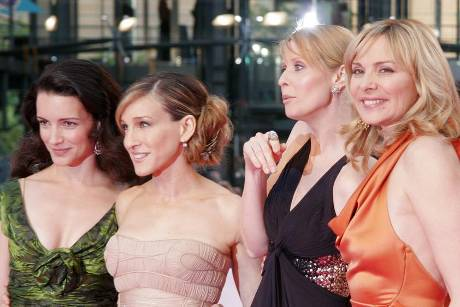 "Die ""Sex and the City""-Girls (v.l.): Kristin Davis, Sarah Jessica Parker, Cynthia Nixon und Kim Cattrall"