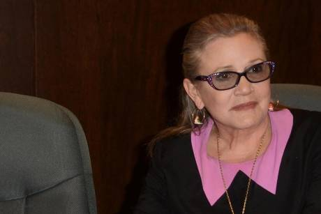 Carrie Fisher im November 2016 bei einer Signierstunde in Los Angeles