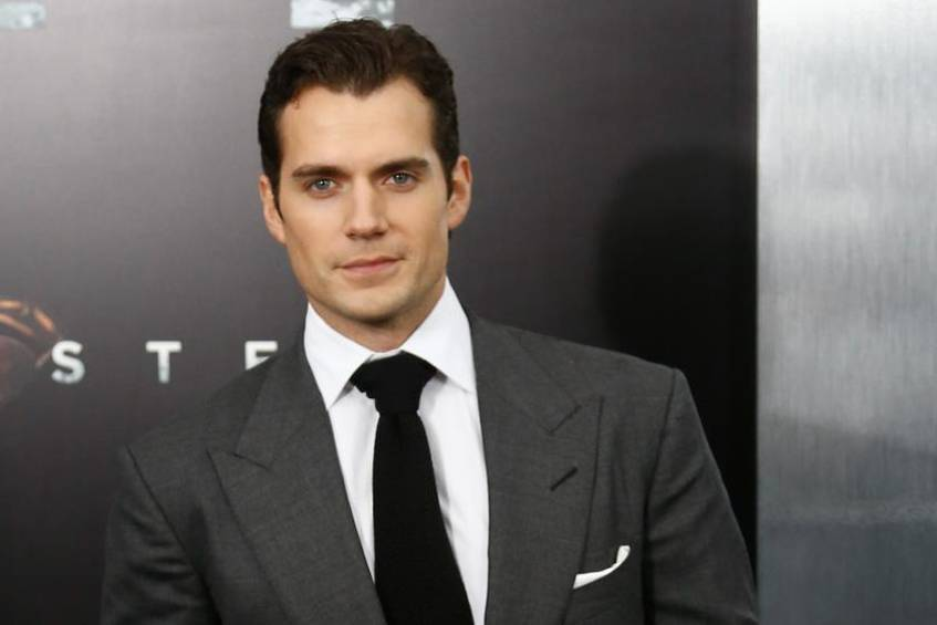"Henry Cavill bei der Premiere des Superman-Films ""Man of Steel"""