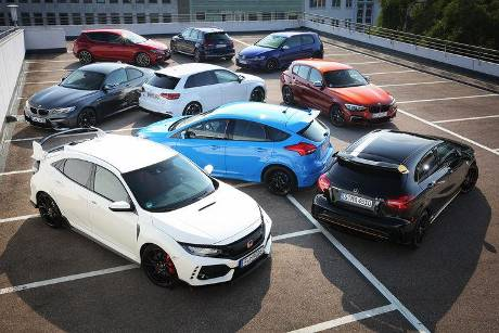 Audi S3 Sportback, Audi RS 3 Sportback, BMW M140i, BMW M2 Coupé, Ford Focus RS, Honda Civic Type R, Mercedes-AMG A 45, Seat ...