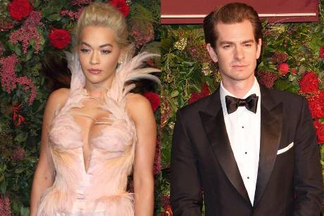 Rita Ora und Andrew Garfield waren Mitte November bei den Theatre Awards 2018 in London zu Gast