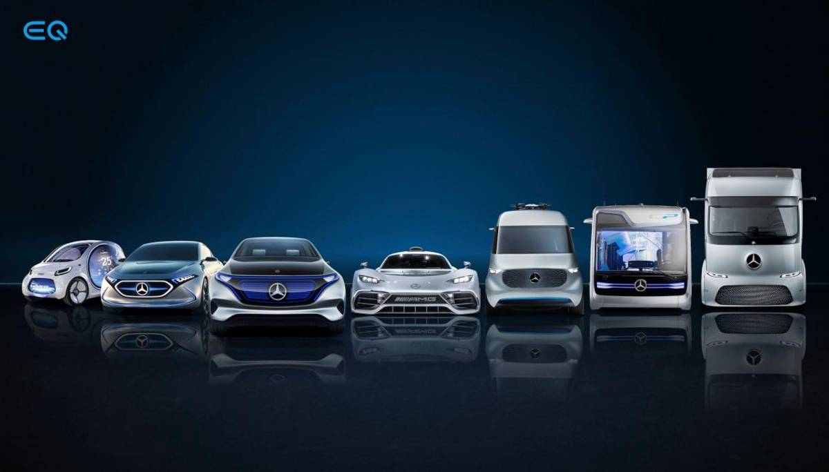Daimlers Electric Line-Up.