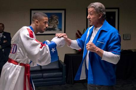 "Rocky (Sylvester Stallone, r.) und sein Schützling Adonis (Michael B. Jordan) in ""Creed II: Rocky's Legacy"""