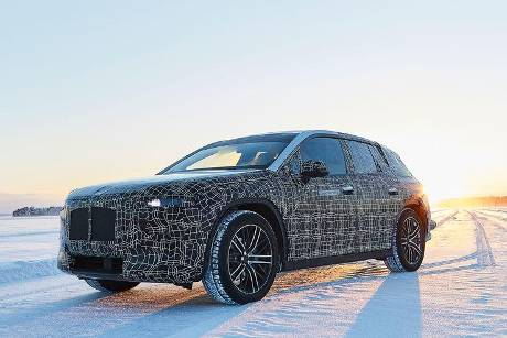 BMW iNext Wintertestfahrten