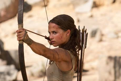 "Alicia Vikander als Lara Croft in ""Tomb Raider"""
