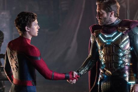 """Tom Holland und Jake Gyllenhaal in Sony Pictures' """"Spider-Man: Far From Home"""""""